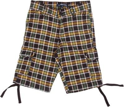 Allen Solly Checkered Boy's Multicolor Basic Shorts