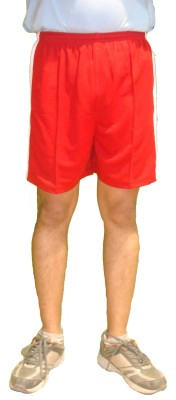 Bodingo Solid Men's Red Sports Shorts