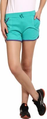 Yogaandsportswear Solid Women's Light Green Sports Shorts
