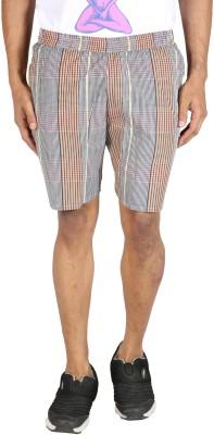 Le Tailor Striped Men's Multicolor Basic Shorts