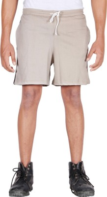 Frang Solid Men's Beige Bermuda Shorts