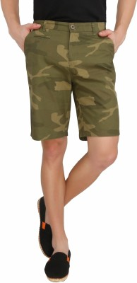 Imagica Printed Men's Dark Green Basic Shorts