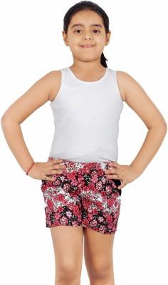 Naughty Ninos Printed Girl's Red Basic Shorts