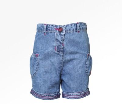 Tales & Stories Solid Baby Girl,s Denim Light Blue Basic Shorts