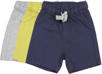 Mothercare Solid Baby Boy's Grey, Blue, Yellow Basic Shorts