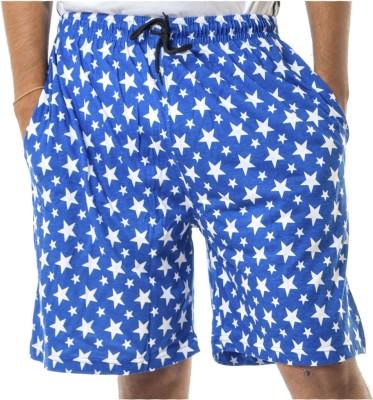 Shootr Printed Men's Dark Blue Bermuda Shorts