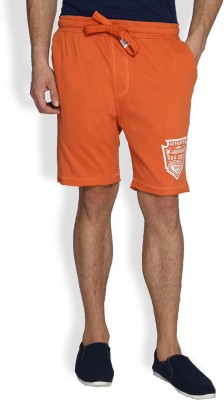 Difference of Opinion Solid Men's Orange Basic Shorts