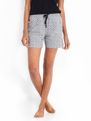 Kook N Keech Marvel Printed Women's Grey Basic Shorts