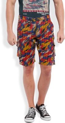 Vintage Printed Men's Red Chino Shorts