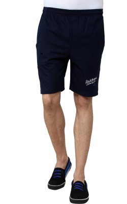 Style Guns Clothing Solid Men's Blue Sports Shorts