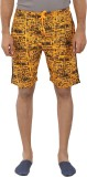 Tantra Printed Men's Orange Basic Shorts