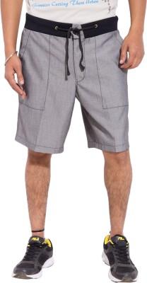 Tam Creatio Solid Men's Grey Basic Shorts