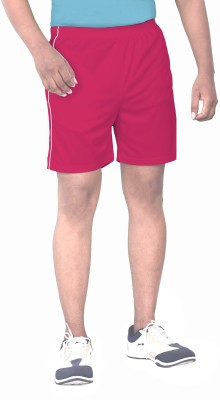 SPORTEE Solid Men,s Red Sports Shorts