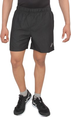 Asics Solid Men's Black Sports Shorts