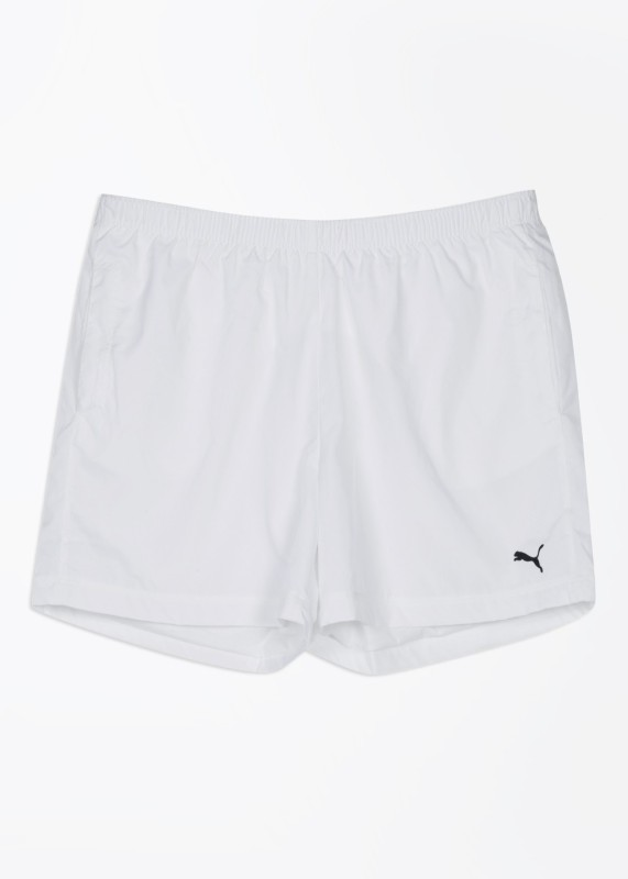 Puma Solid Men's White Sports Shorts