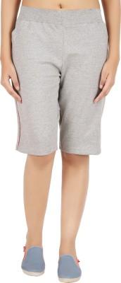 NOTYETbyus Solid Women's Grey Cycling Shorts