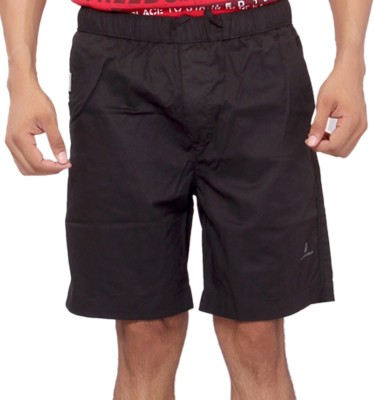 Mountain Colours Solid Men's Black Basic Shorts
