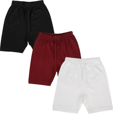 Lula Solid Girl's Black, Maroon, White Cycling Shorts