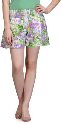 India Inc Floral Print Women's Multicolor Basic Shorts