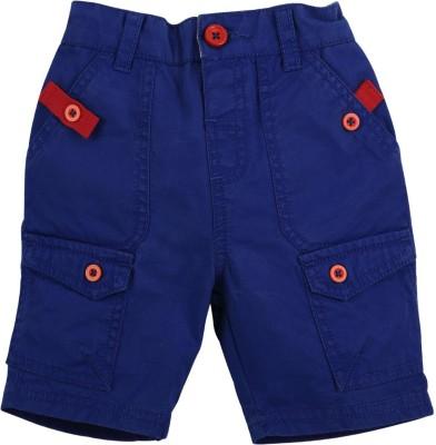 Babyoye Solid Boy's Blue Basic Shorts