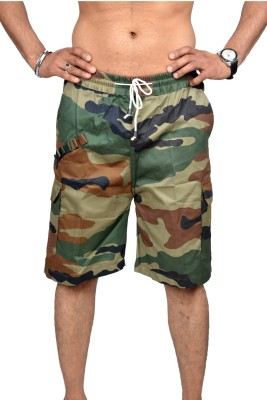 Artzz Solid Men's Multicolor Cargo Shorts