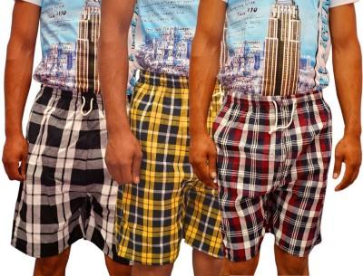 NWK Checkered Men's Multicolor Night Shorts