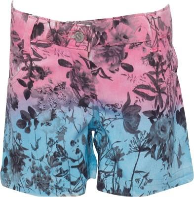 Joshua Tree Printed Girl's Pink Basic Shorts
