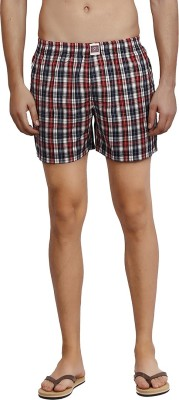 California Club Checkered Men's Multicolor Boxer Shorts