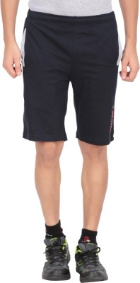 Indian Engineer Solid Men's Dark Blue, Grey Basic Shorts