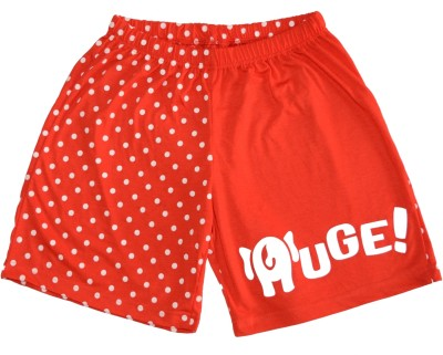 Udankhatola Polka Print Women's Red Basic Shorts