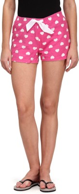 Flippd Printed Women's Pink Hotpants