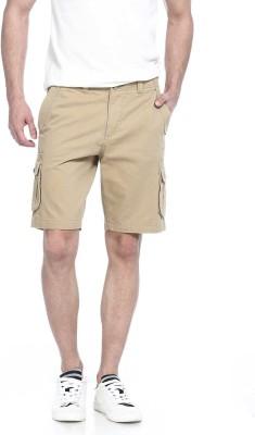 Basics Solid Men's Gold Basic Shorts