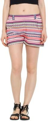 Trend Arrest Striped Women's Multicolor Beach Shorts
