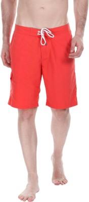 Zobello Self Design Mens Orange Swim Shorts