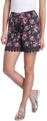 Vero Moda Printed Women's Blue Basic Shorts