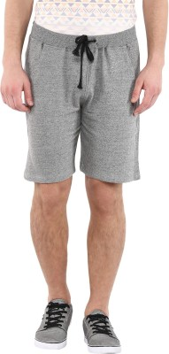 American Crew Solid Men's Grey Basic Shorts