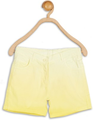 612 League Solid Girl's Yellow Basic Shorts