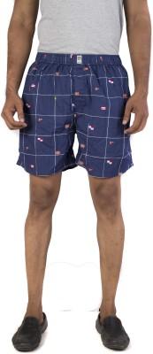 urbantouch Checkered Men's Blue Boxer Shorts