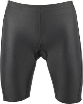 Lycot Solid Men's Black Cycling Shorts