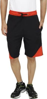 Rakshita Collection Solid Men's Black Sports Shorts