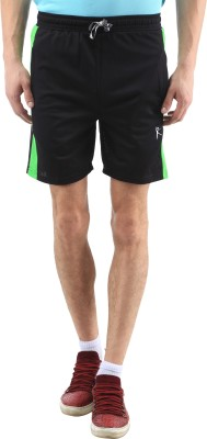SPAWN Solid Men's Black Basic Shorts