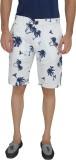 JadeBlue Printed Men's White Beach Short...