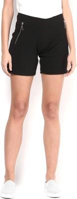 Martini Solid Women's Black Basic Shorts