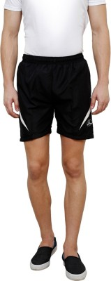 Grand Bear Self Design Men's Black Boxer Shorts