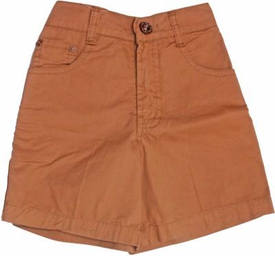 Petals Solid Boy,s Black Basic Shorts