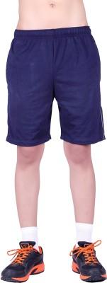 DFH Solid Men's Blue Basic Shorts