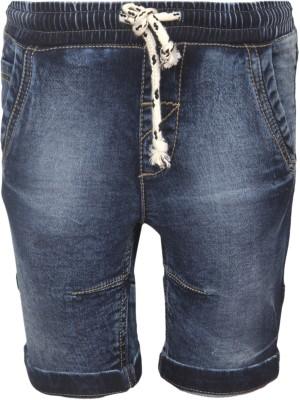 VITAMINS Striped Boy,s Blue Denim Shorts