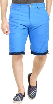 Primo Solid Men's Blue Beach Shorts, Basic Shorts, Night Shorts