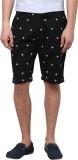 Atorse Printed Men's Black Chino Shorts