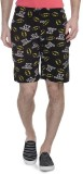 Batman Printed Men's Black Basic Shorts,...